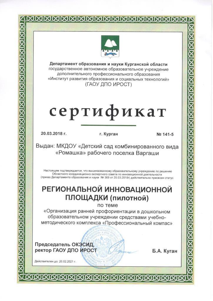 Сертификат рег.ин.площадки